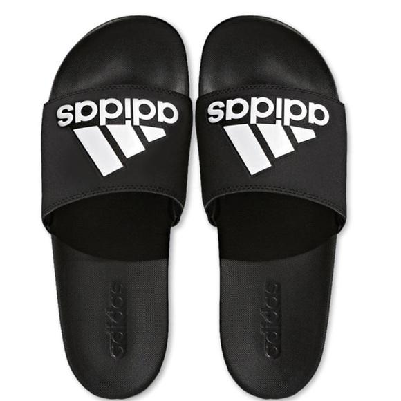 da6c3062e787 New Adidas slides black and white